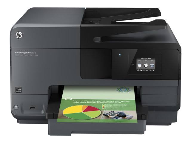 HP OfficeJet Pro 8610 Color Inkjet MFP, Refurbished (A7F64A)
