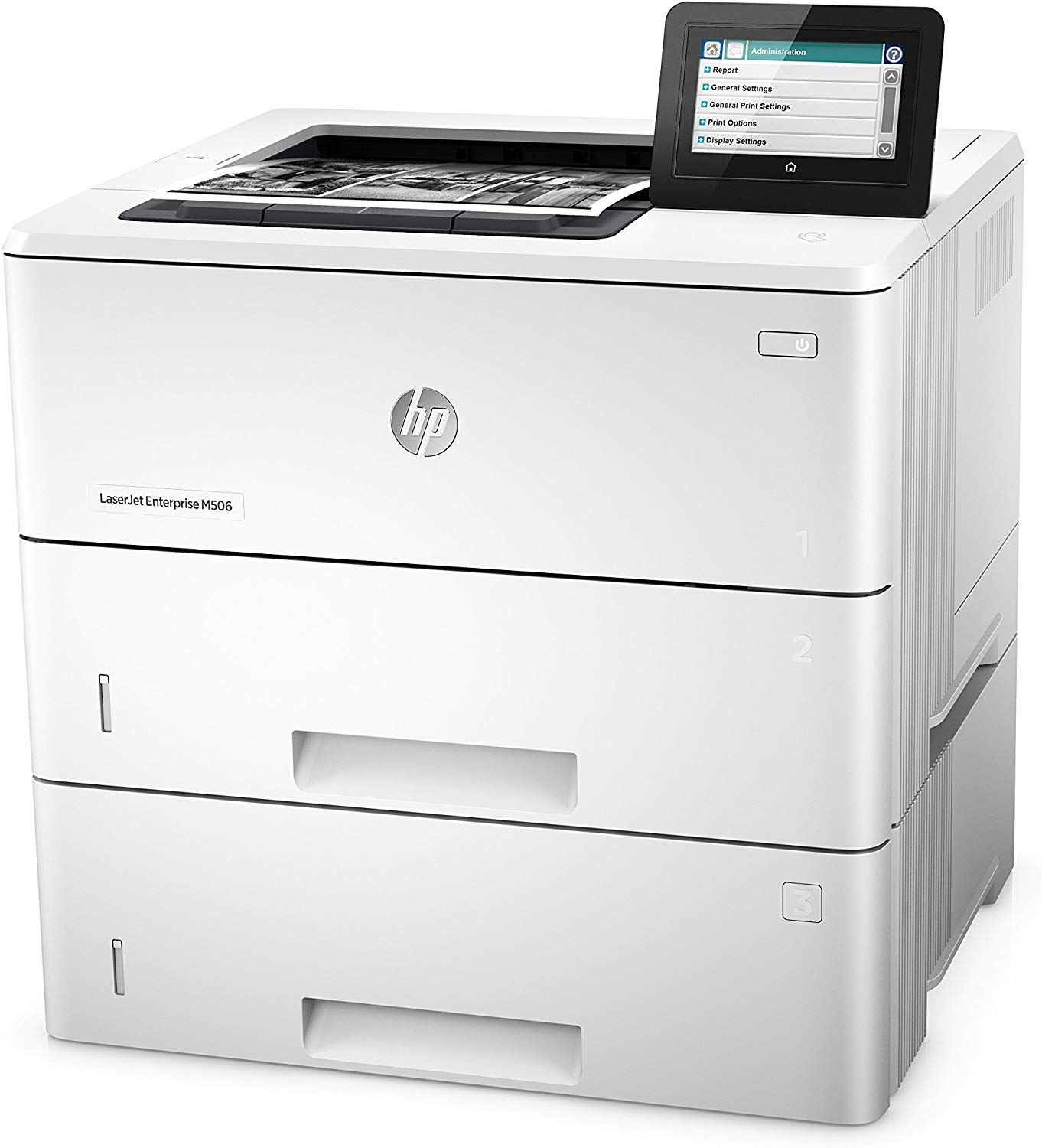 HP LaserJet Managed M506xm Mono Laser Printer, New (F2A67A)
