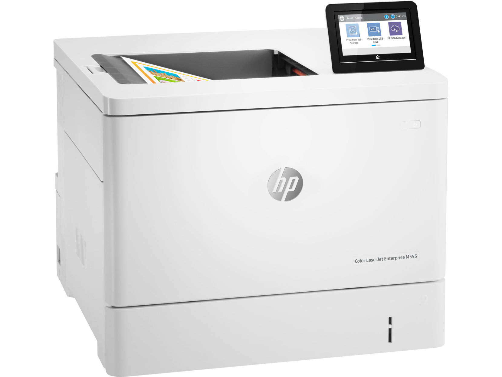 HP Color LaserJet Enterprise M555dn Color Laser Printer, Demo (7ZU78A)