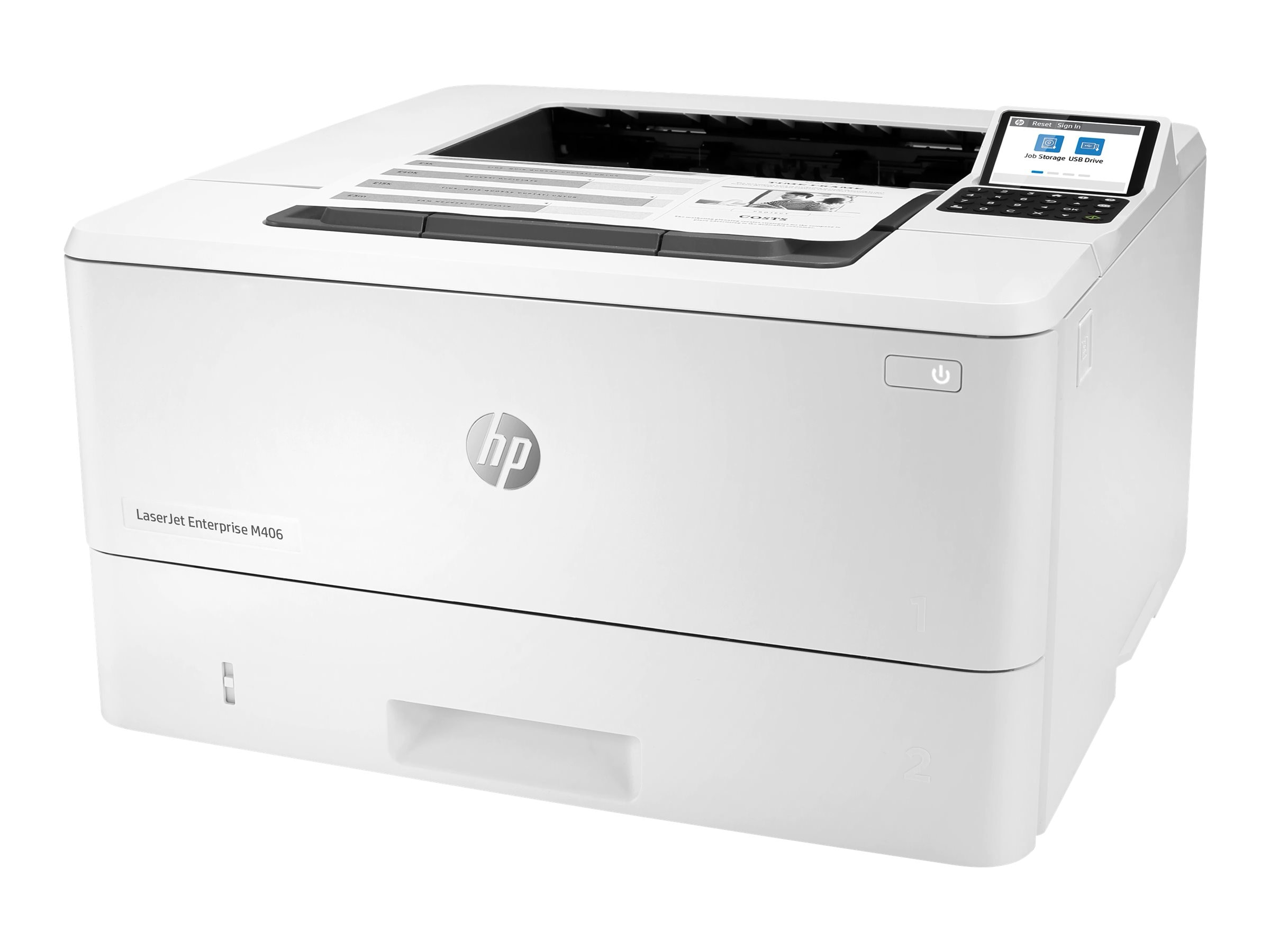 HP LaserJet Enterprise M406dn Mono Laser Printer, Demo (3PZ15A)