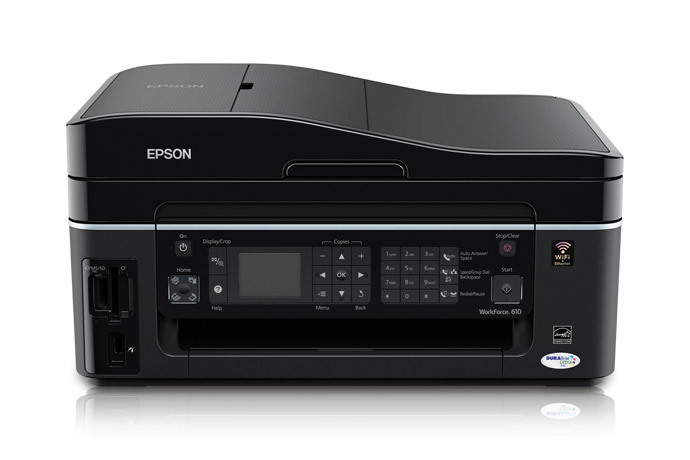Epson WorkForce 610 Color Inkjet MFP, Fully Refurbished (C11CA50201)