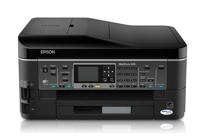 Epson WorkForce 545 Color Inkjet MFP, Fully Refurbished (C11CB88201)