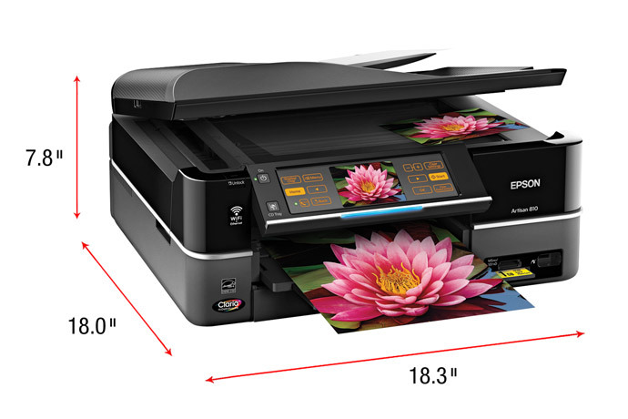 Epson Artisan 810 Color Inkjet MFP, Fully Refurbished (C11CA52201)