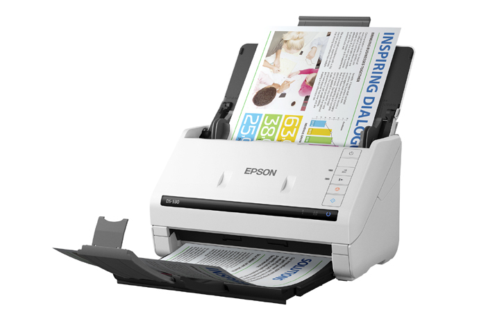 Epson DS-530 Scanner, Fully Refurbished (B11B236201)