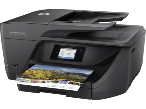 HP OfficeJet Pro 6968 Color Inkjet MFP, Fully Refurbished (T0F28A)