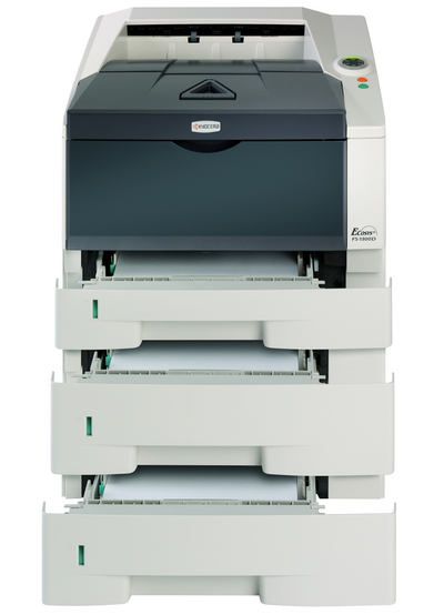 Kyocera ECOSYS FS-1300D Mono Laser Printer, Fully Refurbished (FS-1300D)